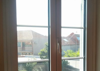Janela 2 folhas vidro duplo com imitação interior